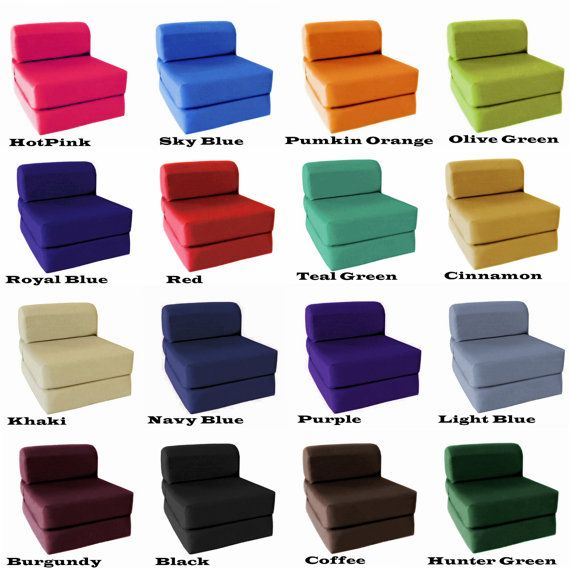 Sleeper Chair Folding Foam Bed Mattresses Chair Ottoman