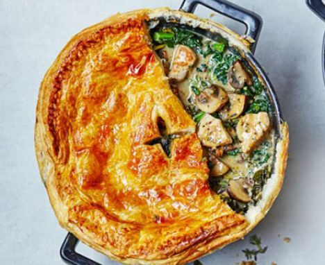 Bbc food healthy chicken pie the ultimate makeover chicken pie lighter chicken bacon and leek pies recipe bbc food curried vegetable pie recipe pot pies kale and mushrooms forumfinder Image collections