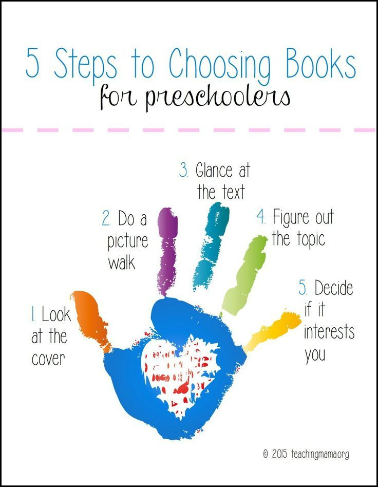 teach preschoolers how to pick out books at the library with these 5 steps - Printable Preschool Books