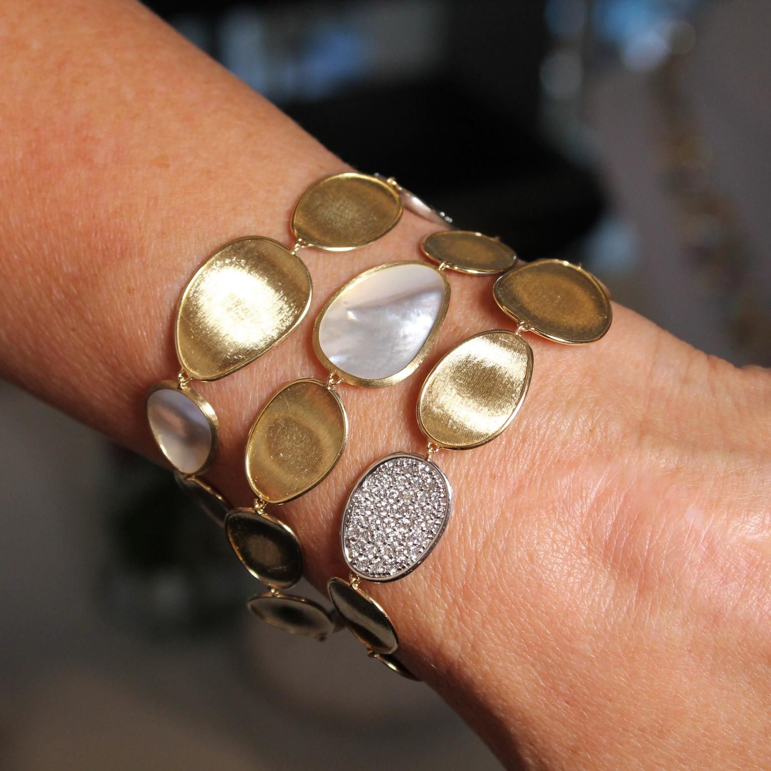 bracelets three marco the pin lunaria revolution bracelet mother and pearl strand of bicego