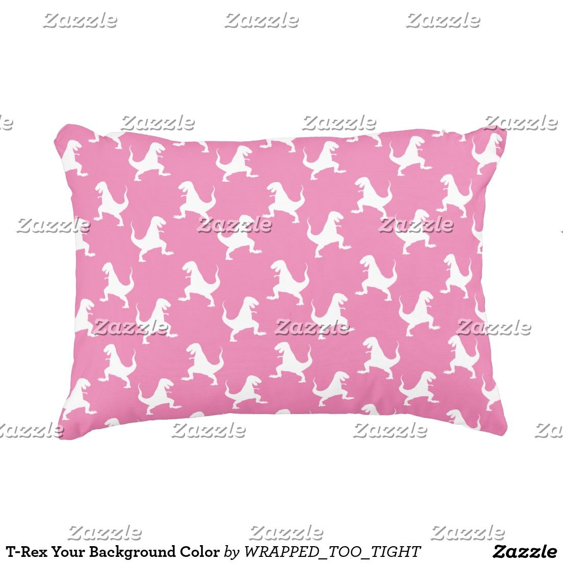 T-Rex Your Background Color Decorative Pillow | Ideas for the House ...