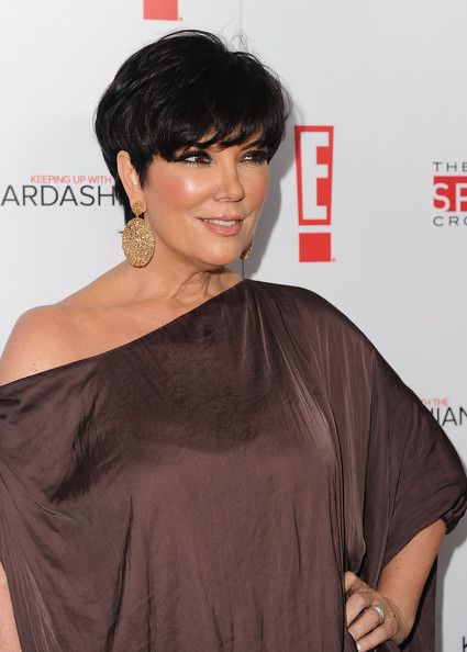 Peachy Kris Jenner Dangling Diamond Earrings Mom Short Hairstyles And Hairstyle Inspiration Daily Dogsangcom