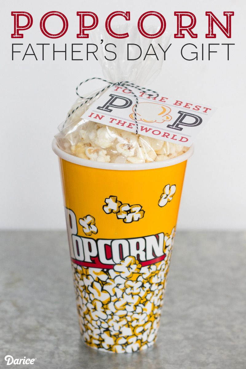 DIY Fathers Day Gift Idea: Popcorn Present - Darice | Popcorn and ...