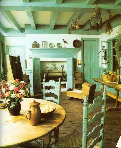 Teal accents looking so good country kitchencountry homescountry