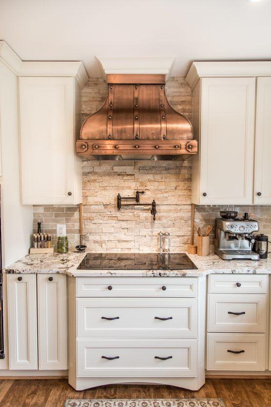 Camellia Range Hood – Copper Camellia Range Hoods – Art of Range Hoods Kitchen
