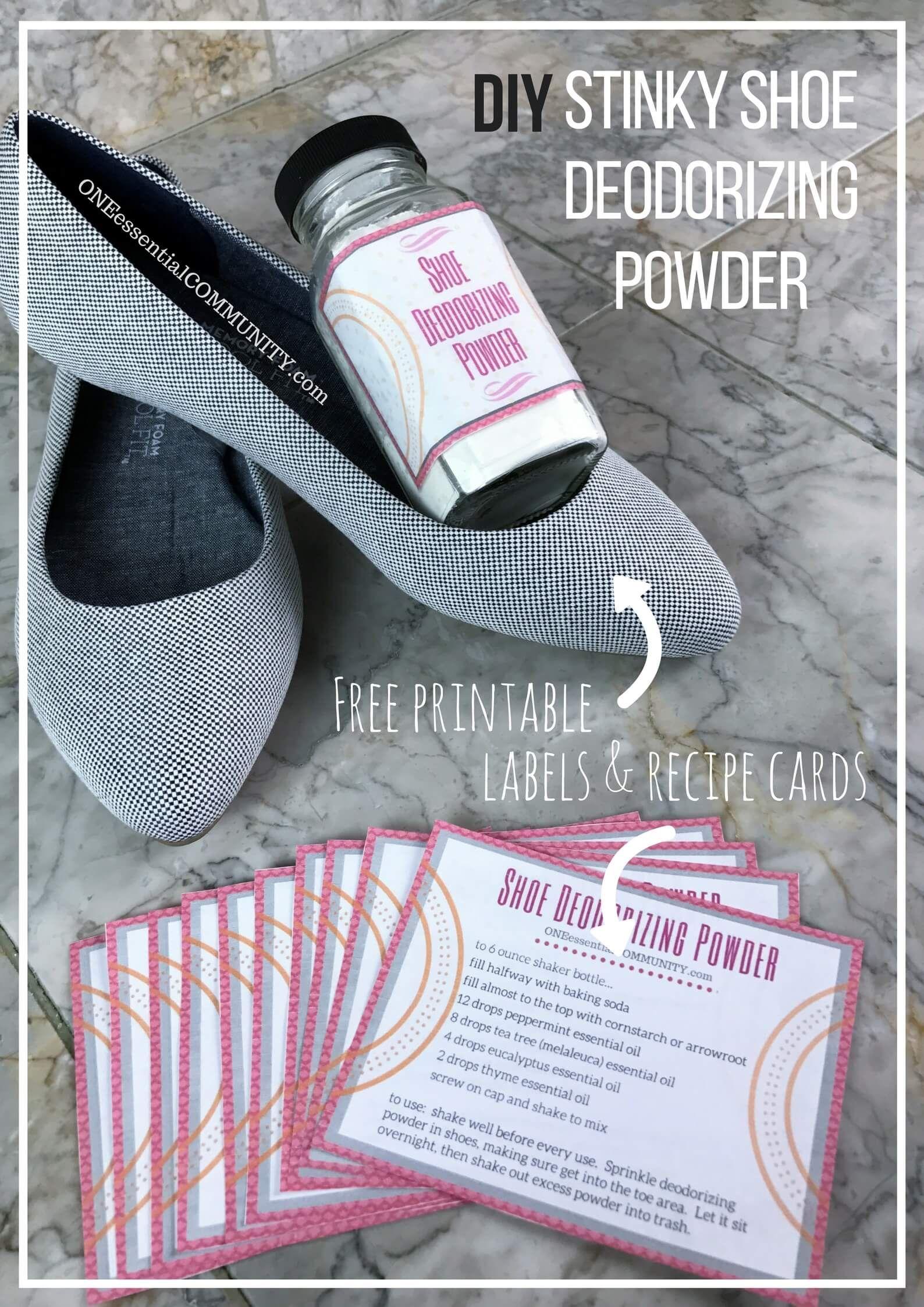 Shoe Deodorizing Powder