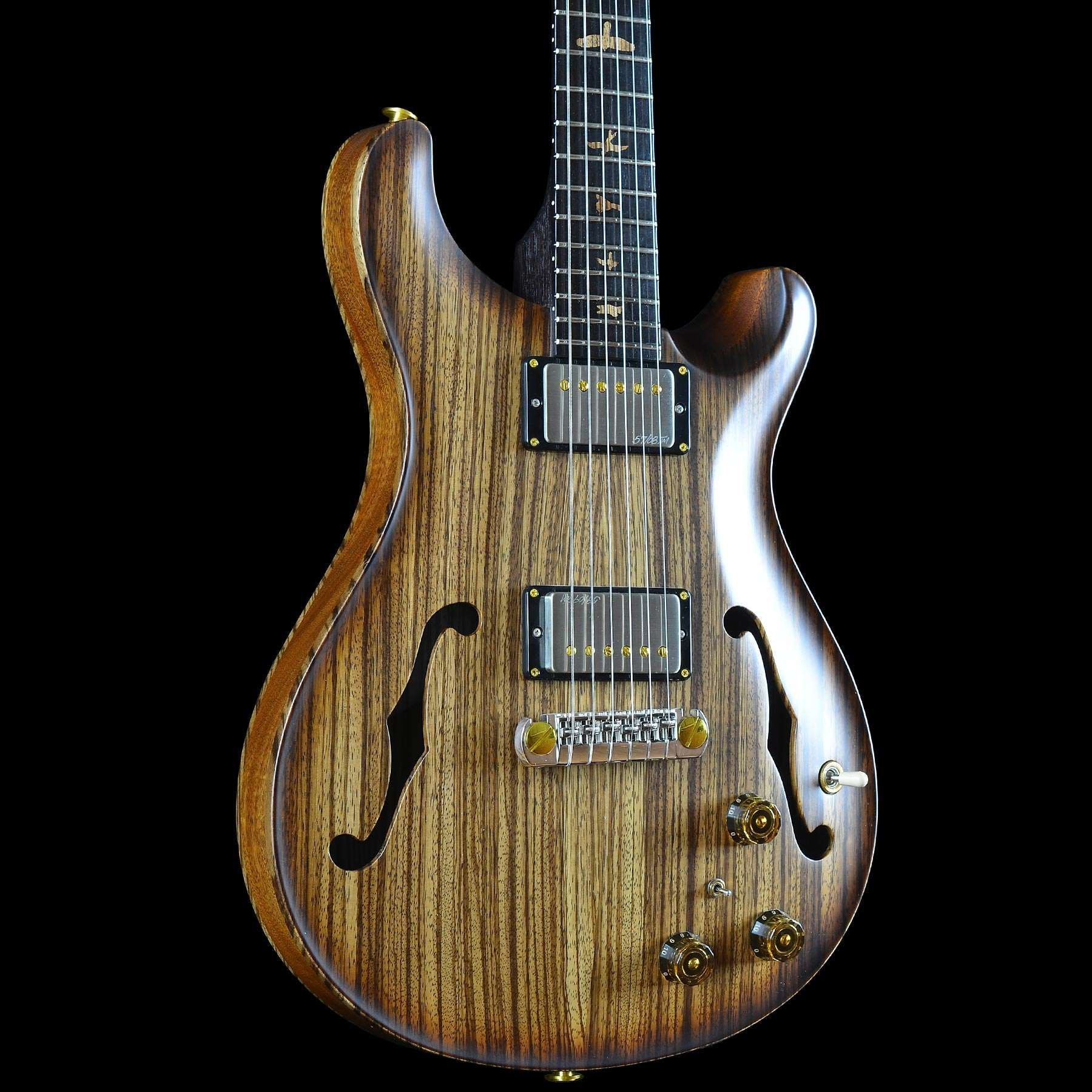 PRS Paul Reed Smith Private Stock 5681 Hollowbody II Zebrawood