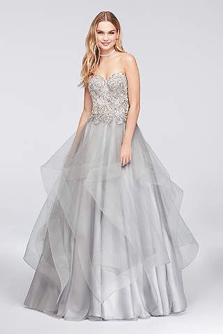 Such a unique look for prom! David\'s Bridal is the source ...