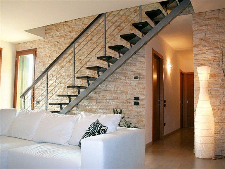 Rivestimento ecologico in pietra ricostruita ecolithos scaglia mister brick casa open space - Mattoncini per esterno ...