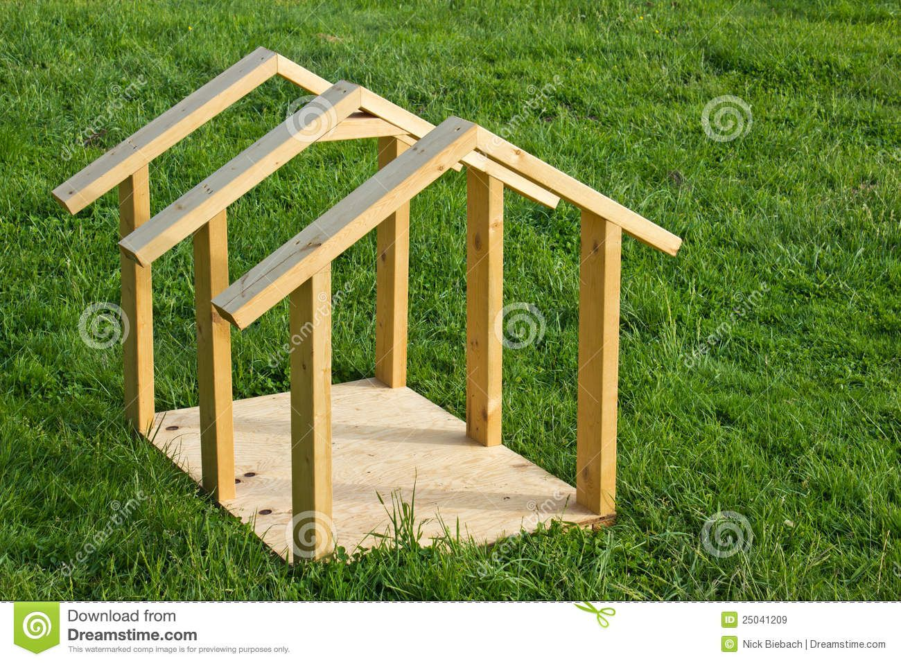 Easy Build Dog House Plans Dog House Wood Frame Royalty Free