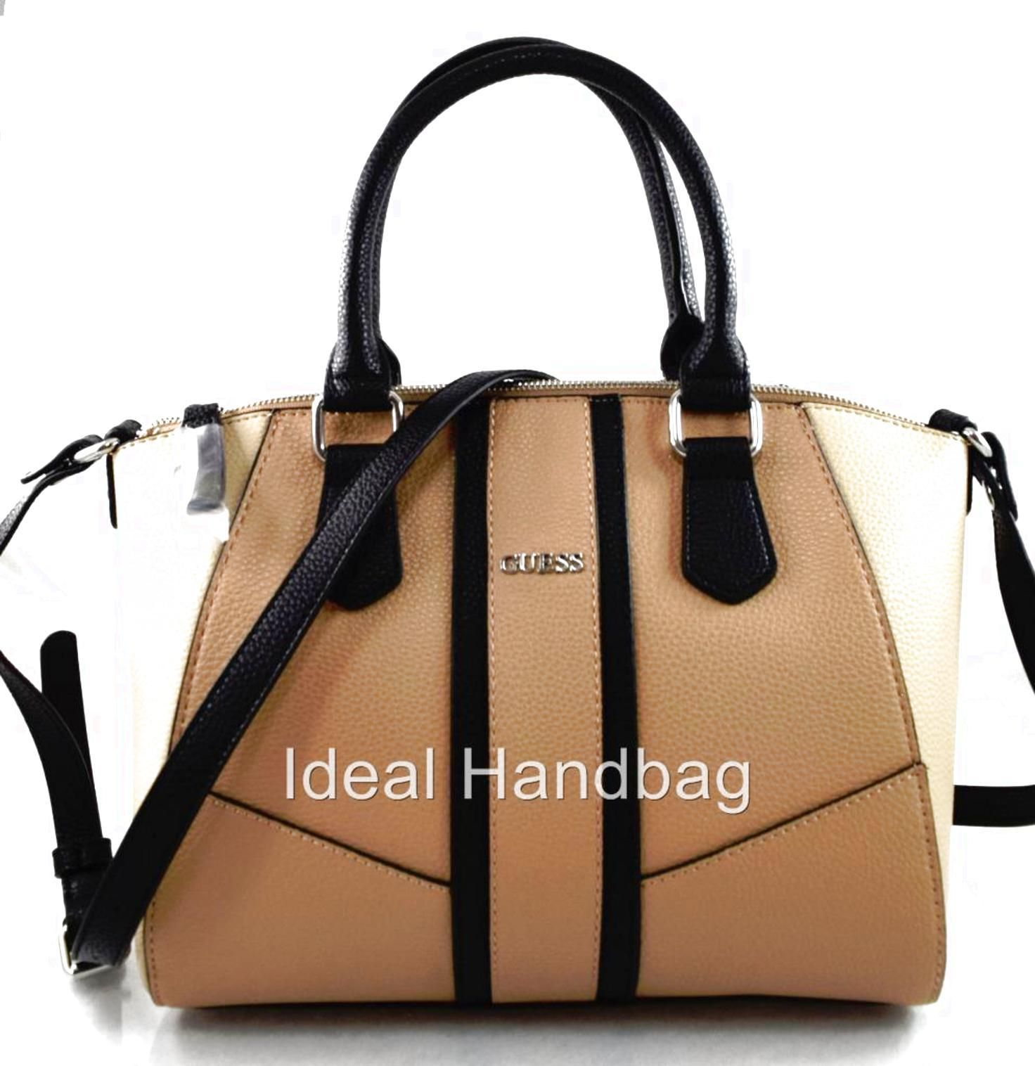 Authentic New Nwt Guess Tambako Brown Satchel Crossbody Bag