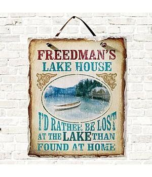 personalized lake house slate by personal creations 24 99 a rh pinterest com paint colors for dining rooms 2017 2017 Ford Fusion Interior Colors