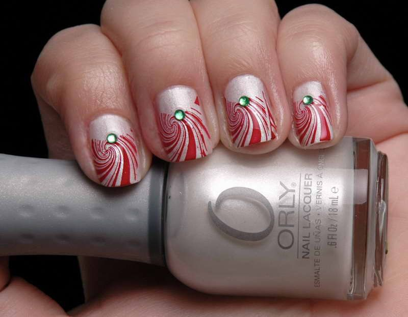 Candy Cane Nails Design Sweet Candy Cane Nails Design With Green