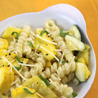 Gemelli with Yellow Squash, Zucchini, and Basil