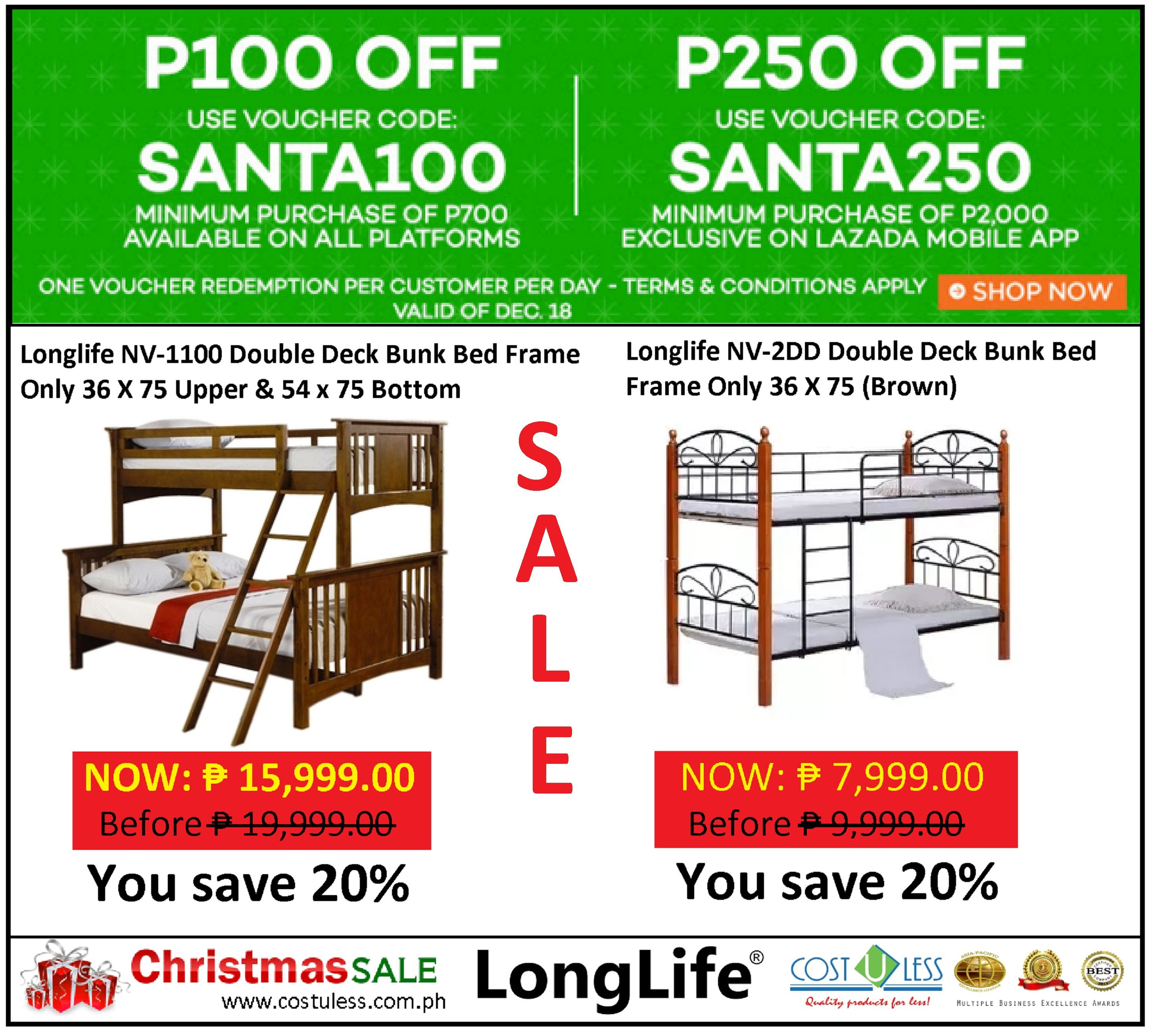 Bedroom Furniture Sale Lazada 39 S Santa 39 S Gift Shop Promo Save P100 Up To P250 Off Discount On