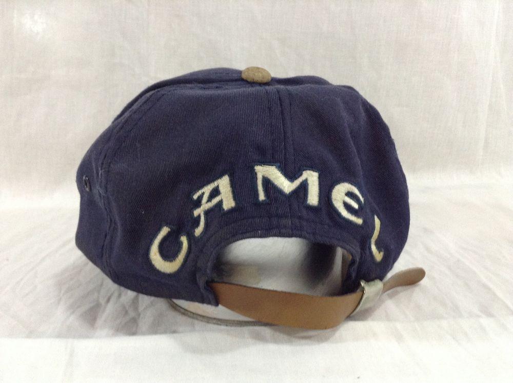 c953014d Vintage Camel Hat Blue Adjustable Cigarettes Strapback Tobacco Cap #Camel  #BaseballCap