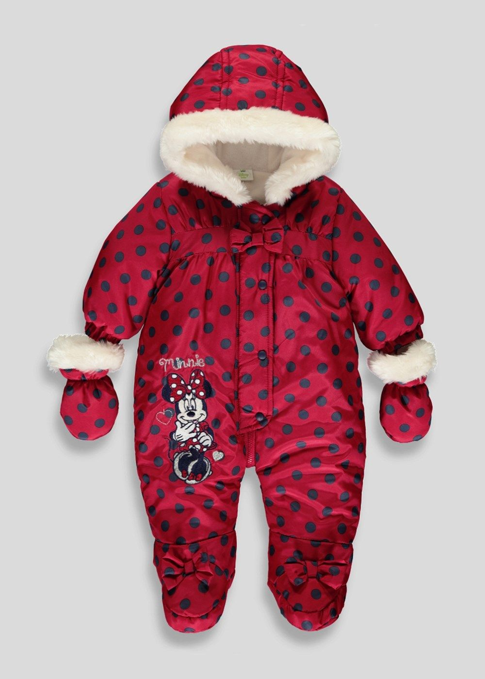 ce0a2d2b5160 Girls Disney Minnie Mouse Snowsuit (Newborn-18mths) - Matalan ...