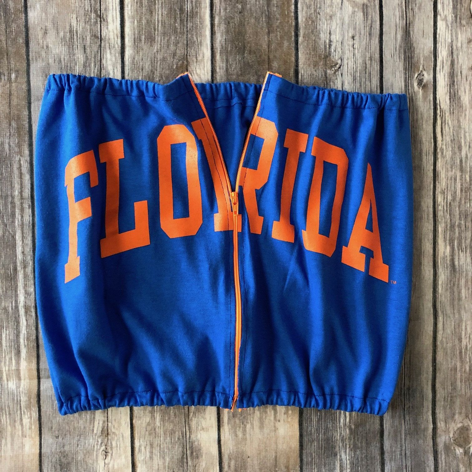 Sample Sale Florida Gators Zipper Tube Top Womens Tailgate Shirt Cute Game Day Top Col Tailgate Shirt Nc State Wolfpack Outfits College Tailgate Outfit