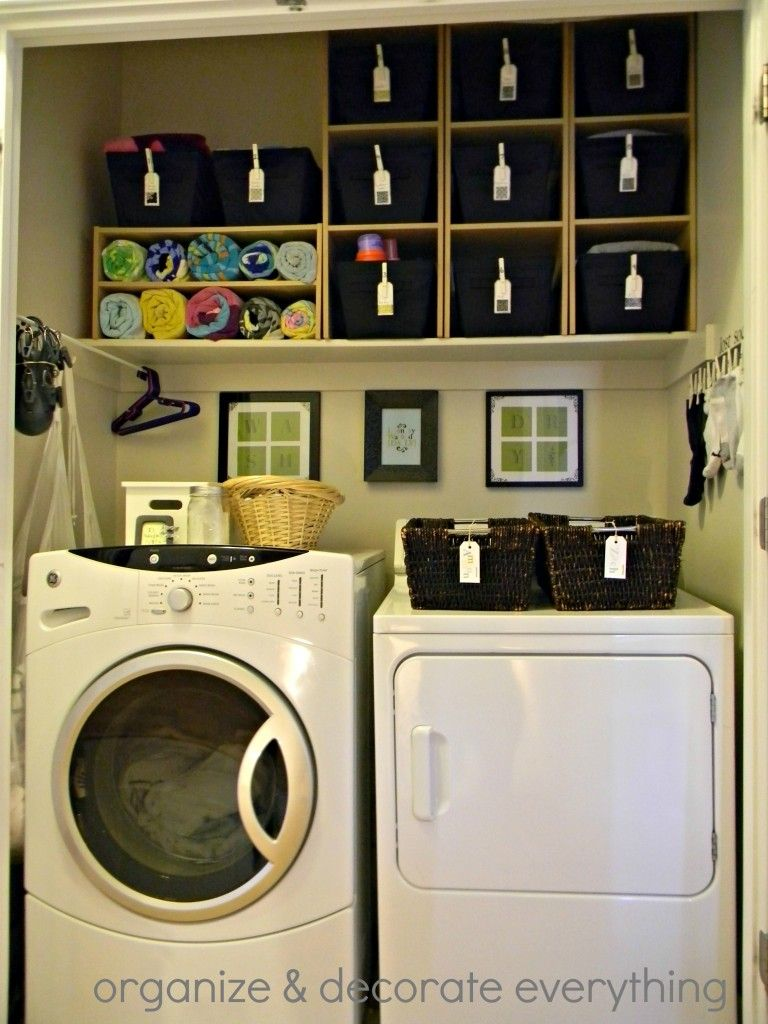 25 Ideas for Small Laundry Spaces Laundry rooms Laundry and