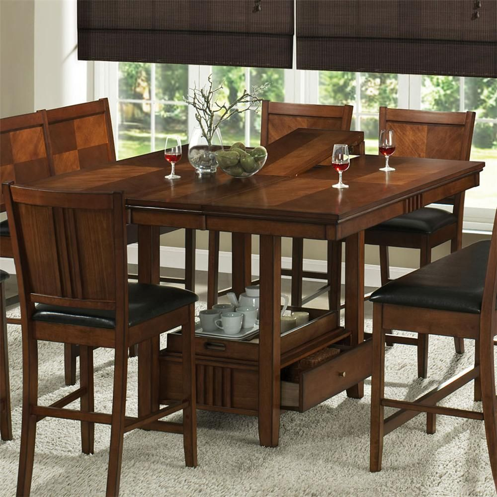 dining table with storage