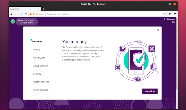 Activate the Tor Browser technology on Mozilla Firefox and