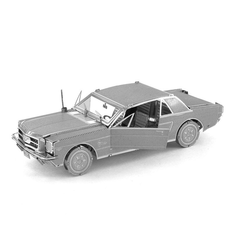 china metal diy suppliers 1965 mustang car metal diy steel scale miniature model creative puzzle toys kits kids adults hobby building fantasy hot fun
