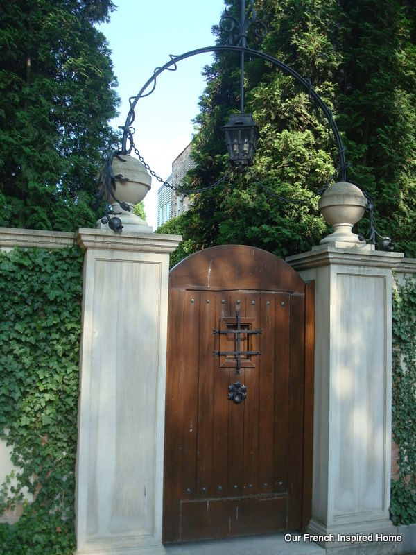 Our French Inspired Home French Home Exteriors French Doors and Exteriors on Chicago\u0027s \ Most Expensive\  Block & Spanish Style Wooden Gates | French Home Exteriors: French Doors and ...