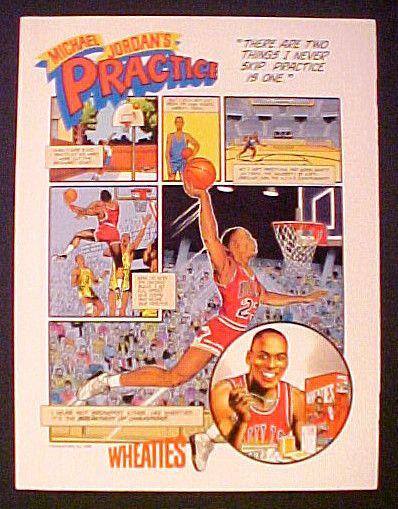 Michael Jordanwheaties Basketball Players Endorsements Michael