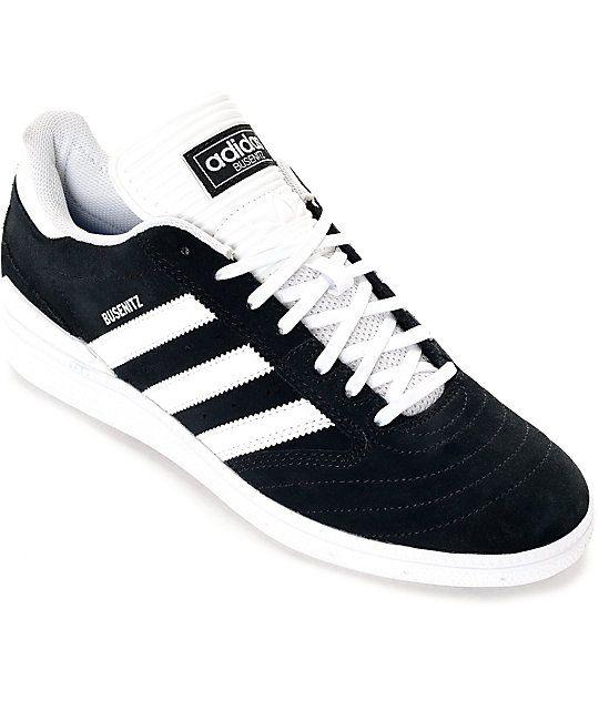 super popular 3bfcc ca950 adidas Busenitz Black  White Suede Shoes