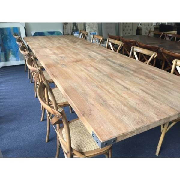 Hamptons Solid Timber Extension Dining Table Noosa Chair Package