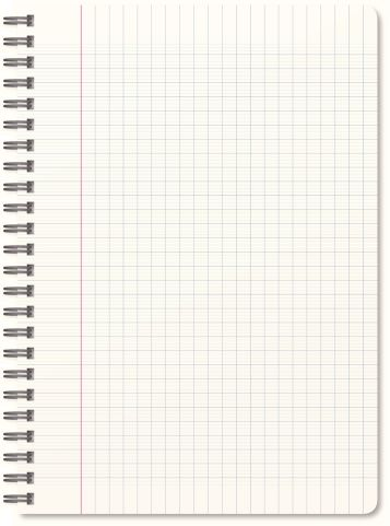 Realistic Blank Notebook Isolated On White Background Good Notes Paper Template Notebook