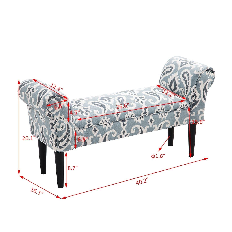 Remarkable Homcom Multicolored Fabric Upholstered Wood 40 Inch Vanity Ibusinesslaw Wood Chair Design Ideas Ibusinesslaworg