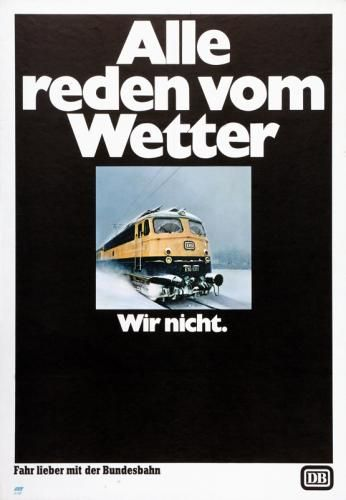 Ja Nee Is Klar Bahn Plakat Bundesbahn Alte Werbung