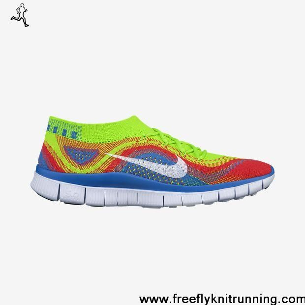 Latest Listing Cheap Nike Free Flyknit Electric Green White Bright Crimson Lightweight Shoes