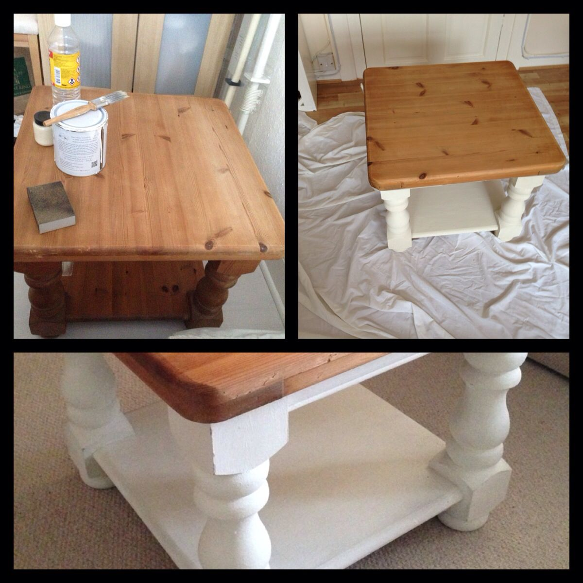 Ducal old pine table upcycled into shabby cottage coffee table ducal old pine table upcycled into shabby cottage coffee table using annie sloan old white and geotapseo Images