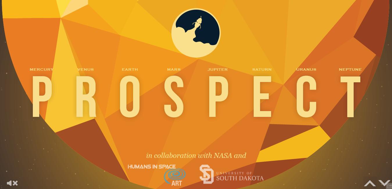 NASAProspect.com | A través del scroll down cuenta la historia del Prospect, enviado al espacio para recoger objetos dorados. Se trata de un aventura divertida creada para enseñar a los más pequeños sobre las misiones en el espacio.
