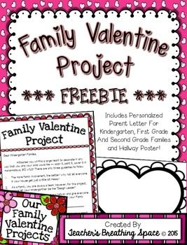 Family Valentines Project  Valentines Day FREEBIE This