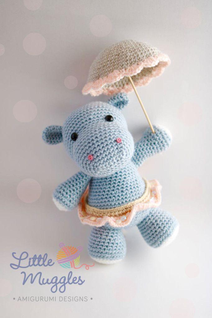 Crochet hippo   Bebes   Pinterest   Muñecos de ganchillo, Hipopótamo ...