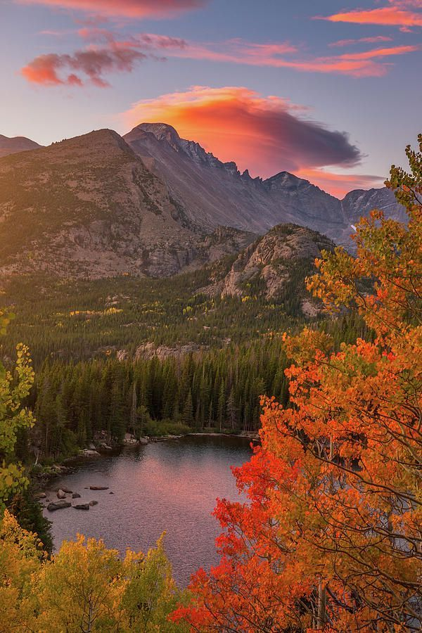Autumn Sunrise Over Longs Peak by Darren White #autumnscenery