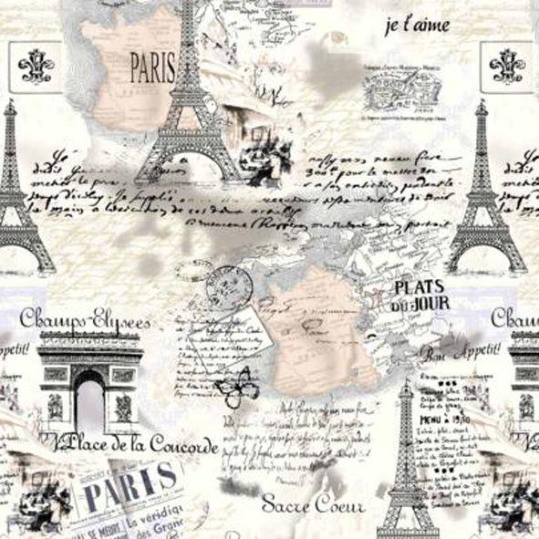 Bavlněná látka Paříž