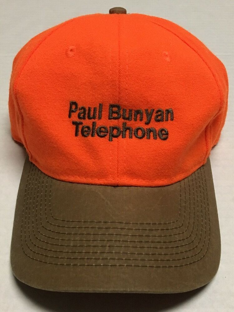 ba2e7ccd2d6 Paul Bunyan Telephone Hat Hunting Bemidji Minnesota Baseball Cap Hunter  Orange  Kudzu  BaseballCap