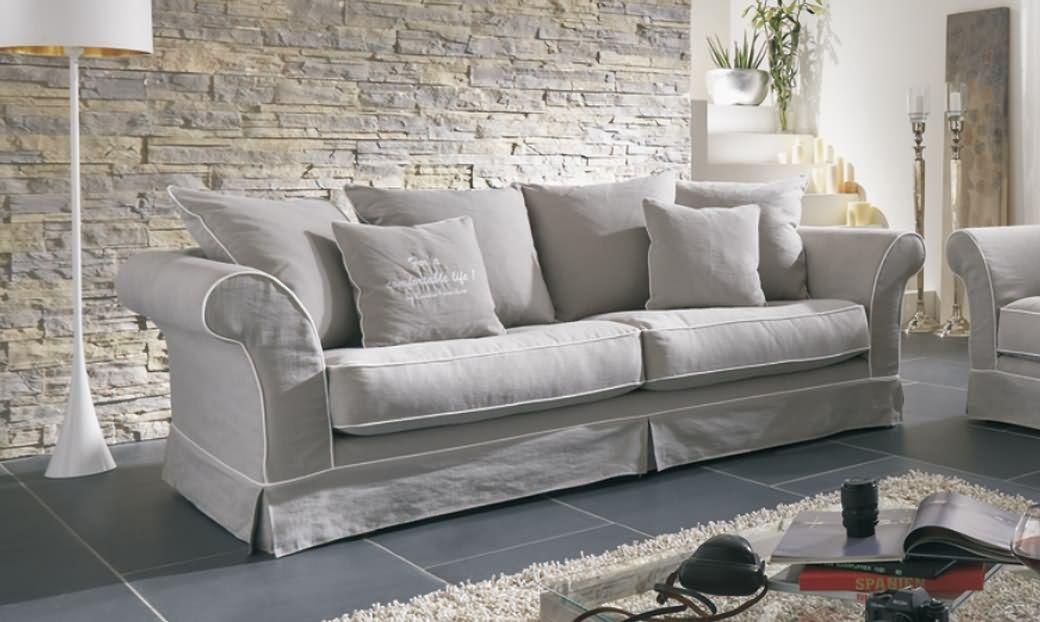 Hussensofa mit Schlaffunktion, Kore - DAM 2000 Ltd \ Co KG - wohnzimmer sofa landhausstil