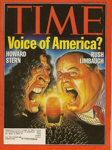 TIME MAGAZINE ~ NOVEMBER 1 1993 11/1/93 HOWARD STERN RUSH LIMBAUGH VOICE AMERICA