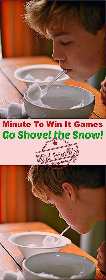 Photo of Super Fun Kid Friendly Minute To Win It Games with a Winter and Christmas Theme!