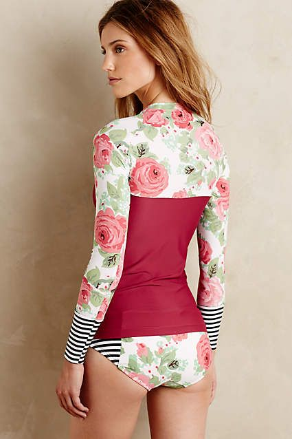 076ff34ea7 Seea Vintage Rose Rashguard - #anthrofave | swim | Swimwear, Summer ...