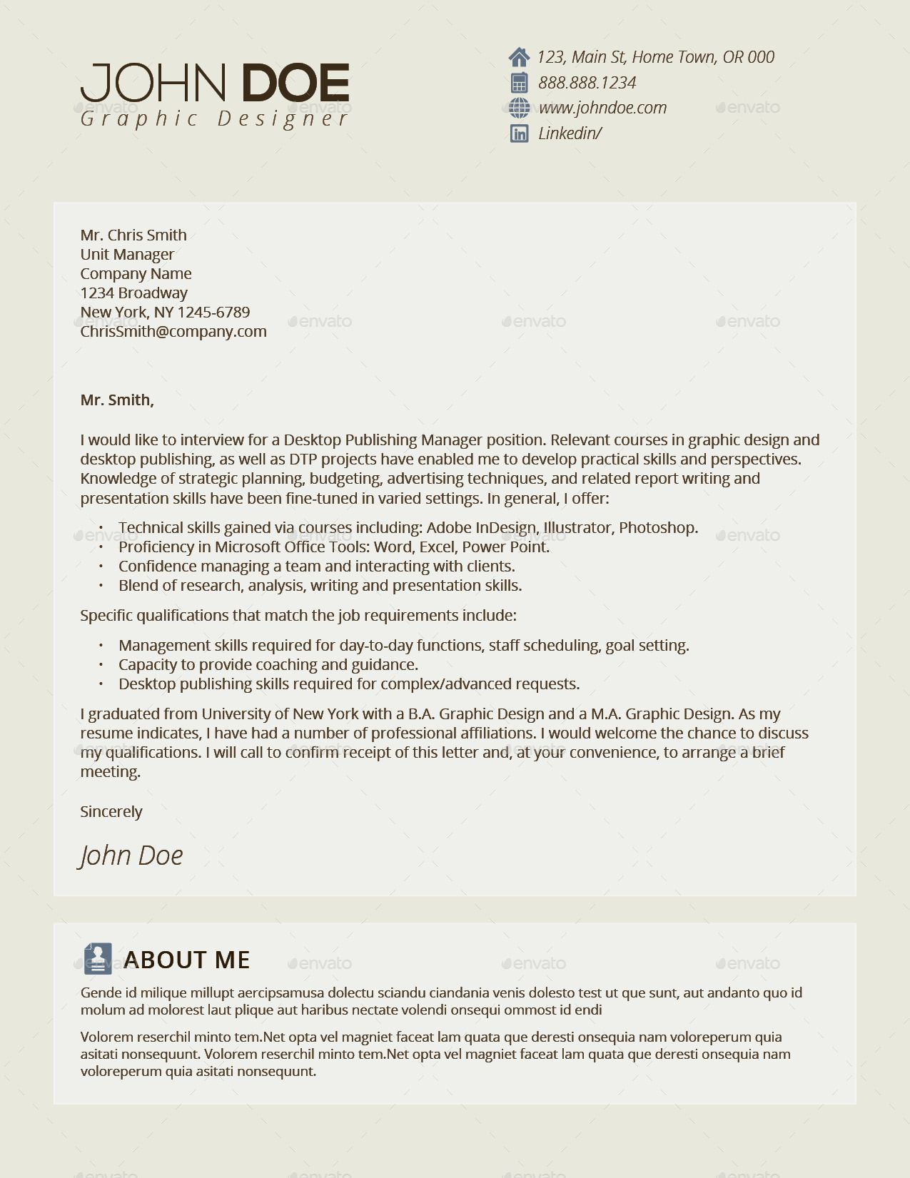 3in1 Deal Resume Template + Icons + Business Card