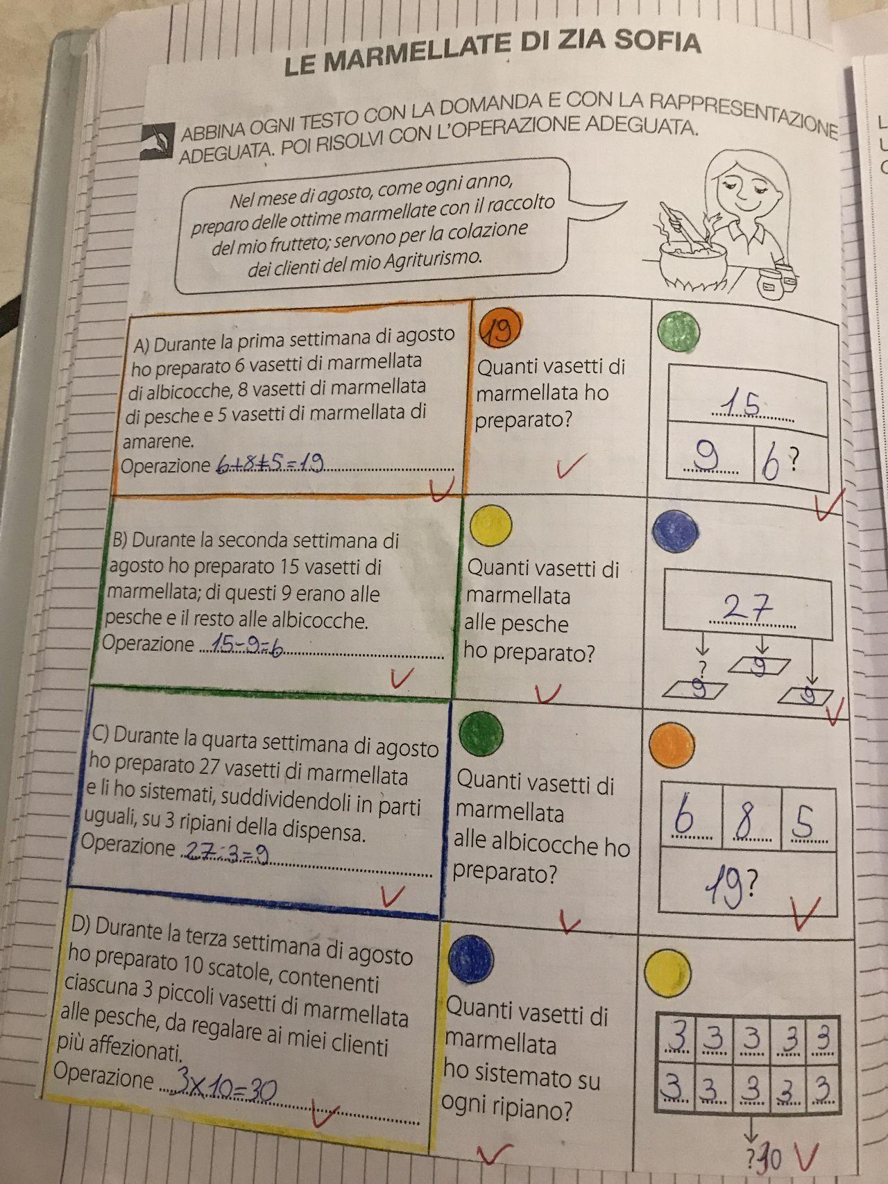 Problemi classe terza | Problemi di matematica, Schede di ...