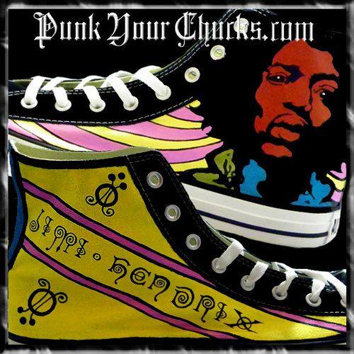 90ad3262a382ec Jimi Hendrix Custom Converse Sneakers