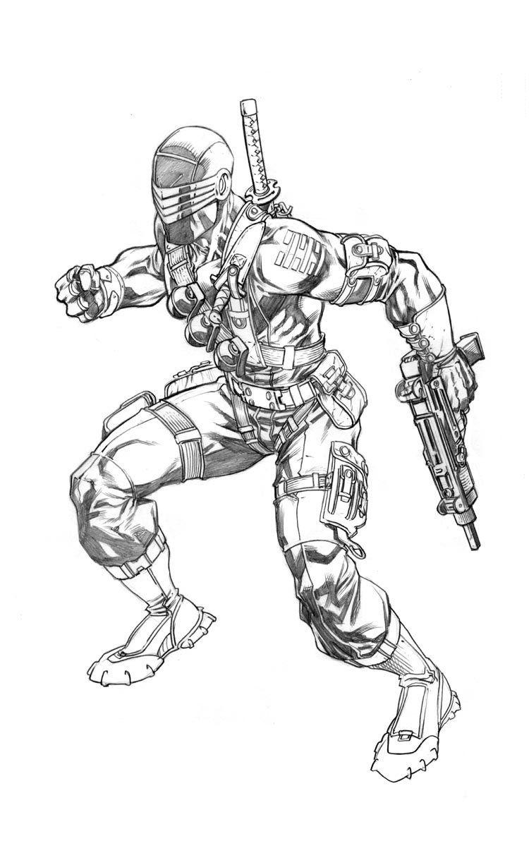 SnakeEyes  Snake eyes gi joe, Character design, Concept art character