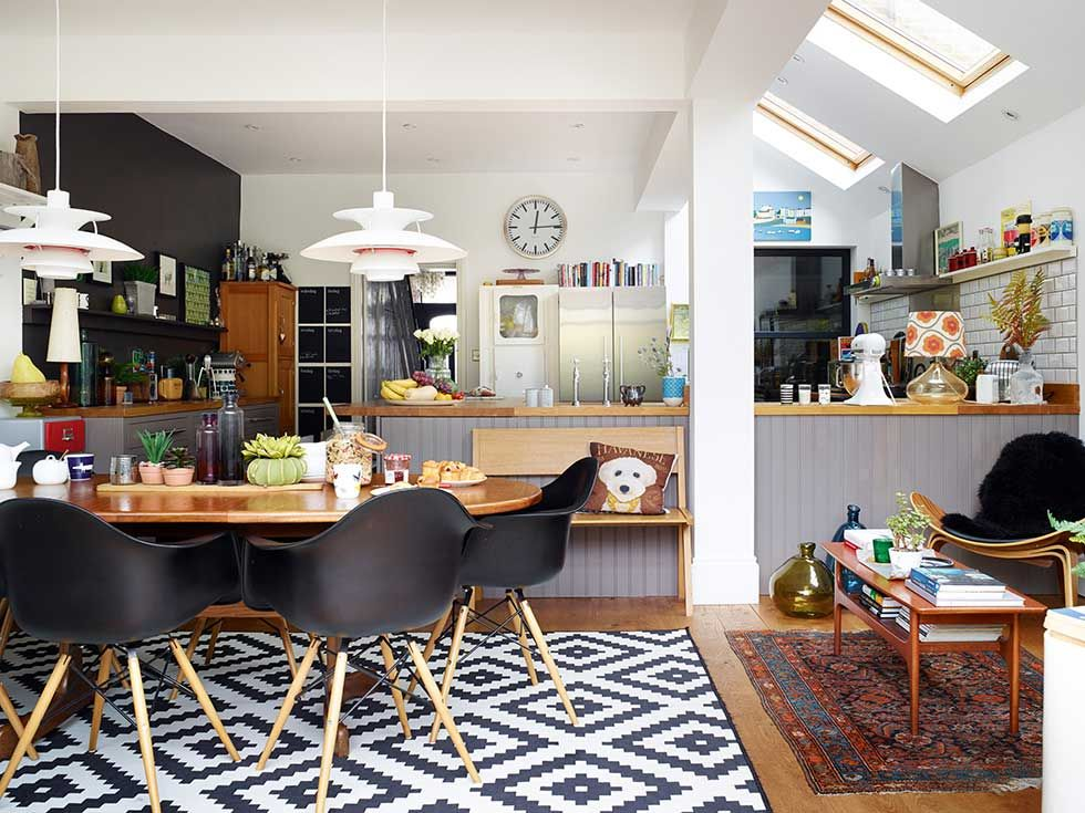 Victorian terraced home living dining kitchen in extension ...